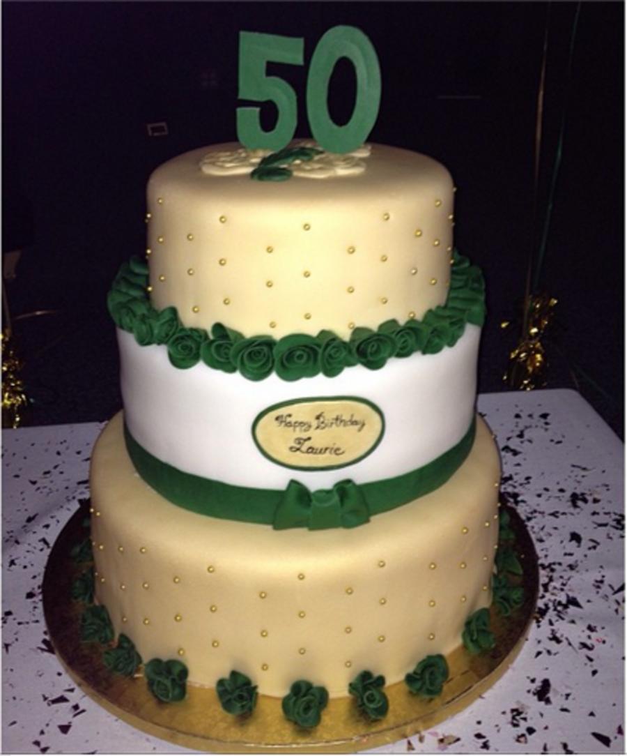 Emerald 50th Birthday Cake Cakecentral Com