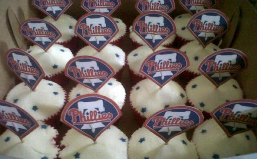 Phillies Cupcakes on Cake Central