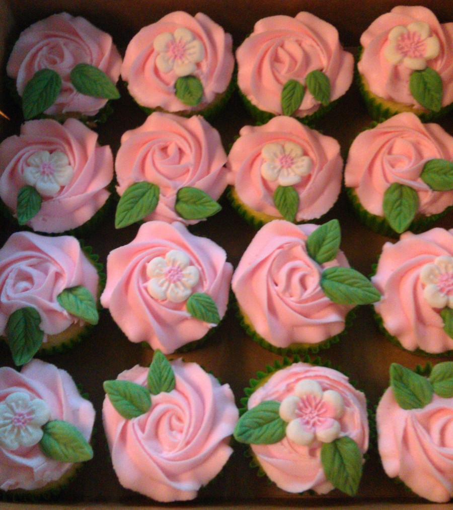 Pink Flower Cupcakes Cakecentral
