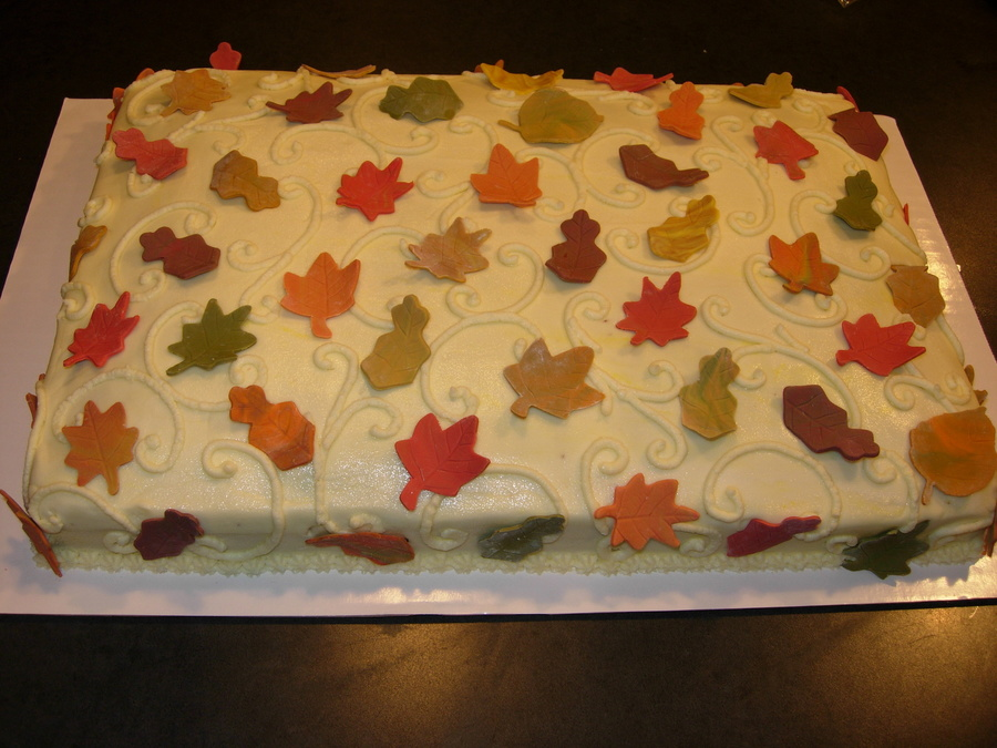 Fall Theme Cake on Cake Central