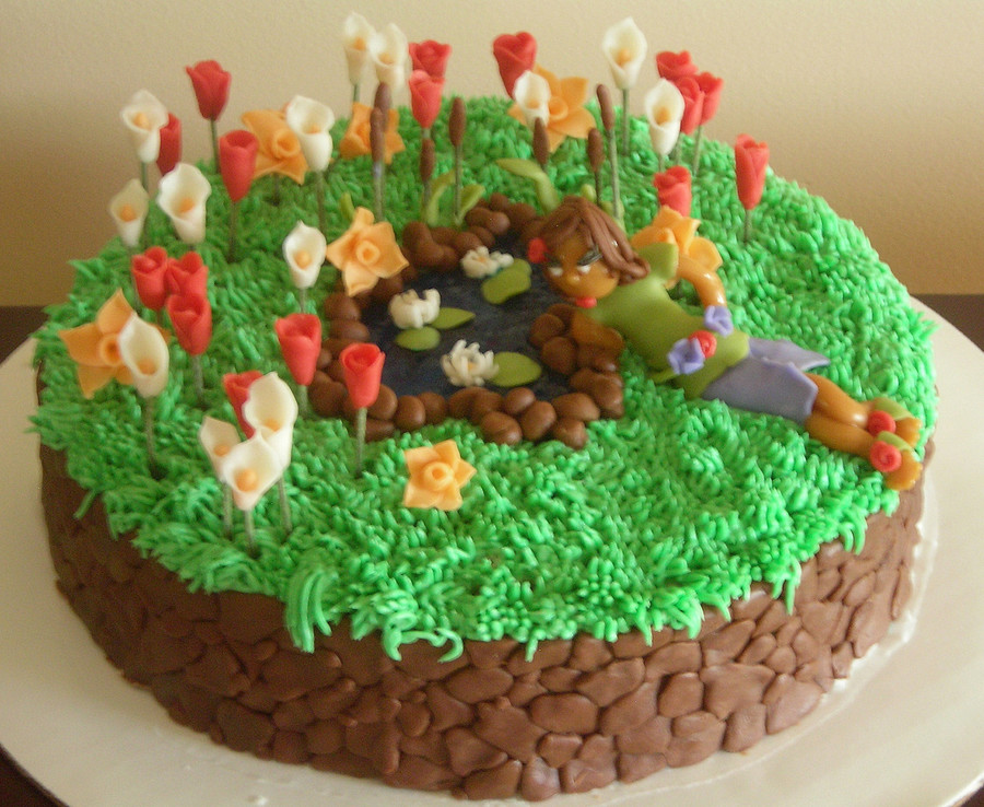 Enchanted Garden on Cake Central