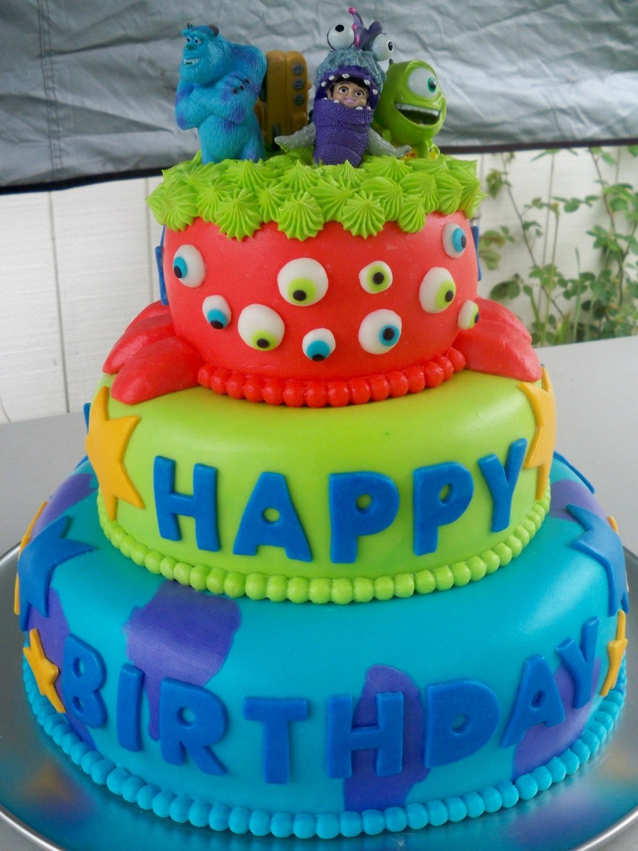 Superb Monsters Inc Themed Birthday Cake Cakecentral Com Personalised Birthday Cards Veneteletsinfo