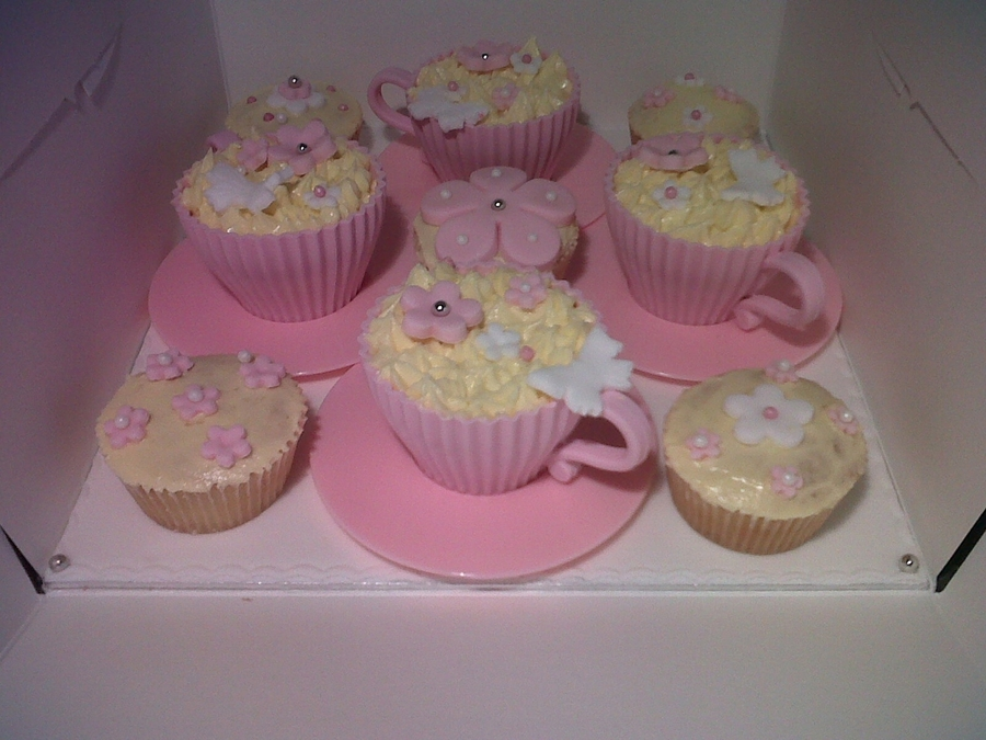 Mothers Day Tea Cup Cupcakes on Cake Central