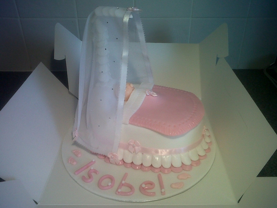 Christeningbaby Shower Crib on Cake Central