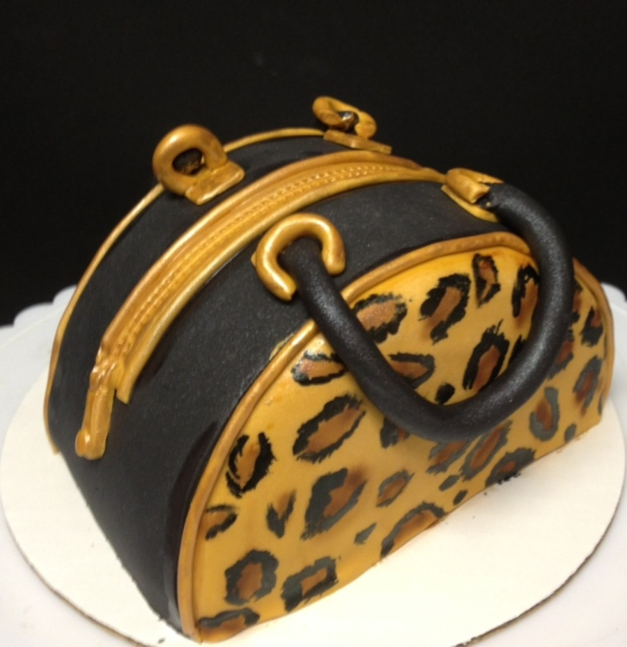Leopard Purse Cake on Cake Central