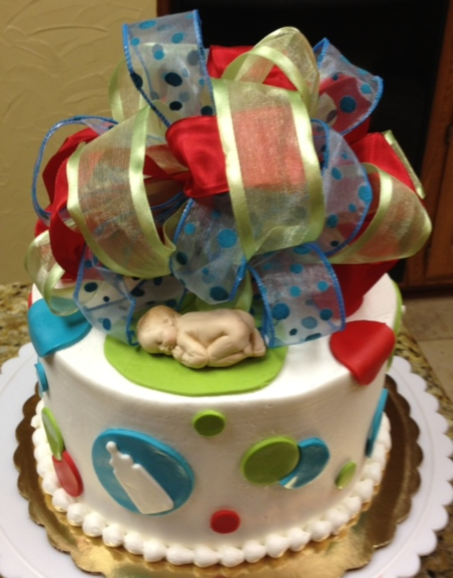 Baby On Top Shower Cake on Cake Central