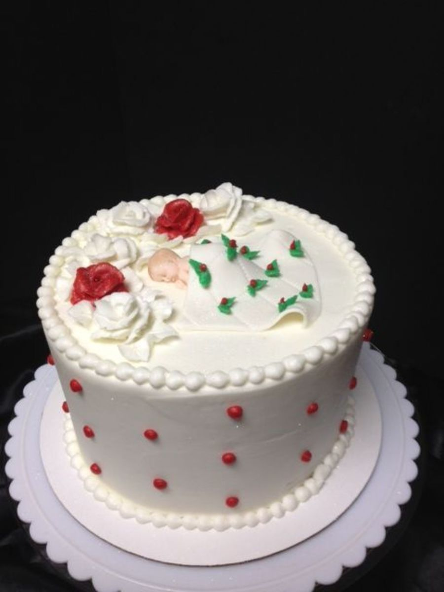 Christmas Baby Cake on Cake Central