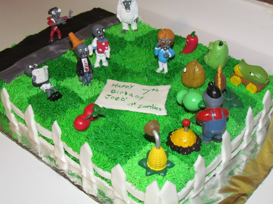 Plants Vs Zombies Birthday Cake Cakecentral