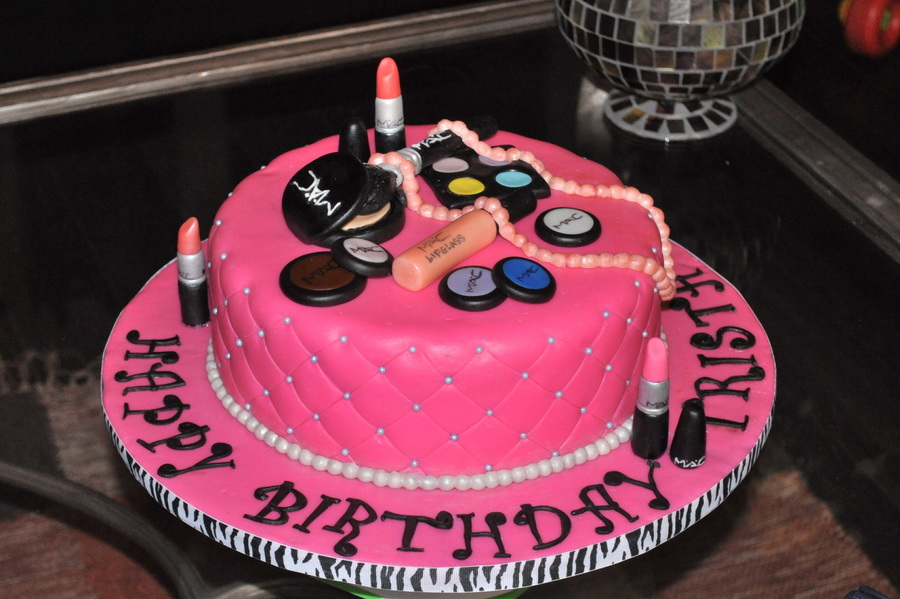 Remarkable Mac Cosmetics Birthday Cake Cakecentral Com Personalised Birthday Cards Sponlily Jamesorg