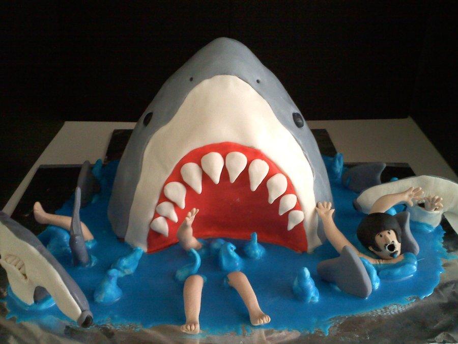 Shark Eating A Cake