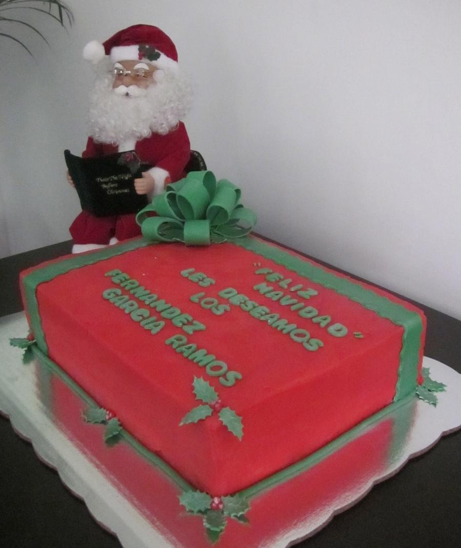 Christmas Cake Ideas Presents : Christmas Gift Cake - CakeCentral.com