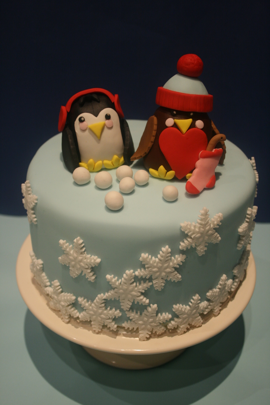 Winter Birds on Cake Central