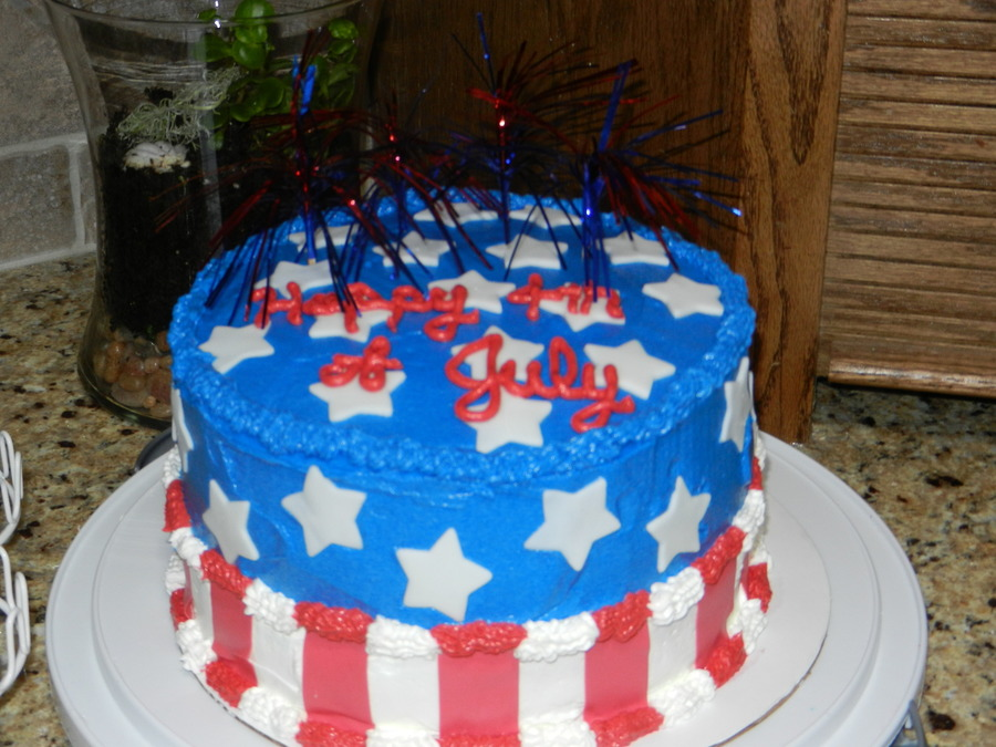 4th Of July Checkerboard Cake Cakecentral Com