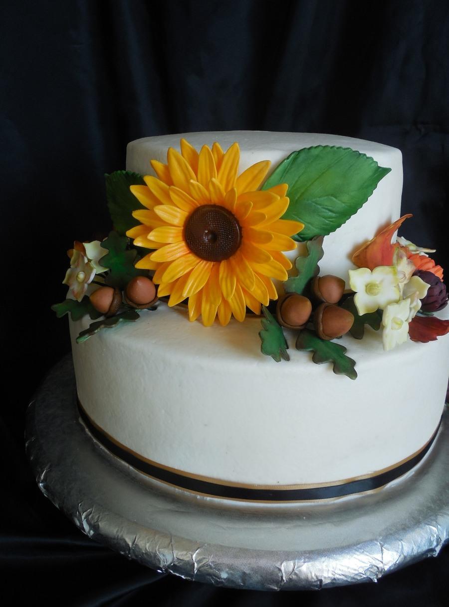 Tremendous Rustic Autumn Birthday Cake Cakecentral Com Funny Birthday Cards Online Unhofree Goldxyz
