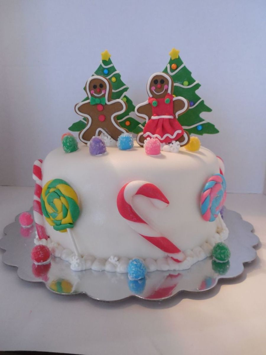Candy Land Christmas Cake  on Cake Central