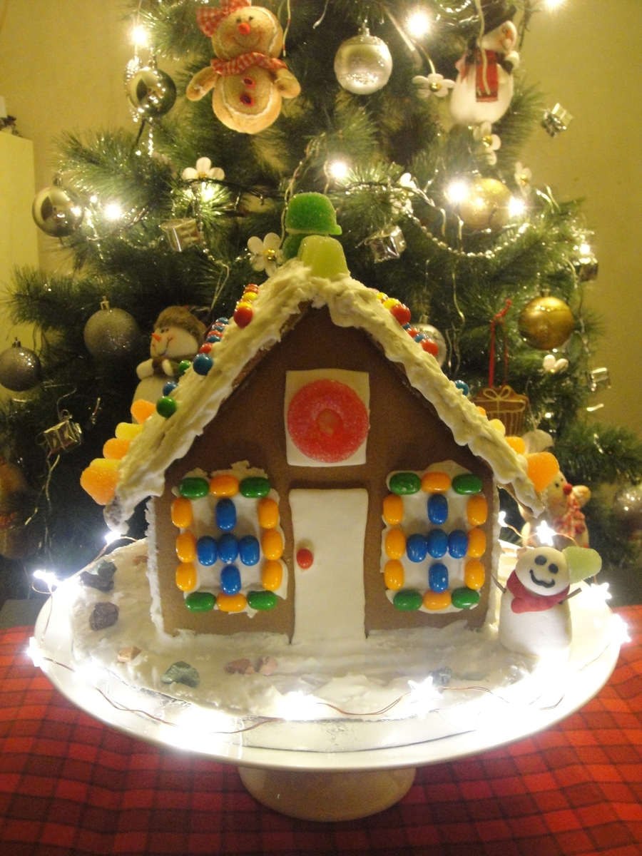 My Ginger Bread House Cake With Led  on Cake Central