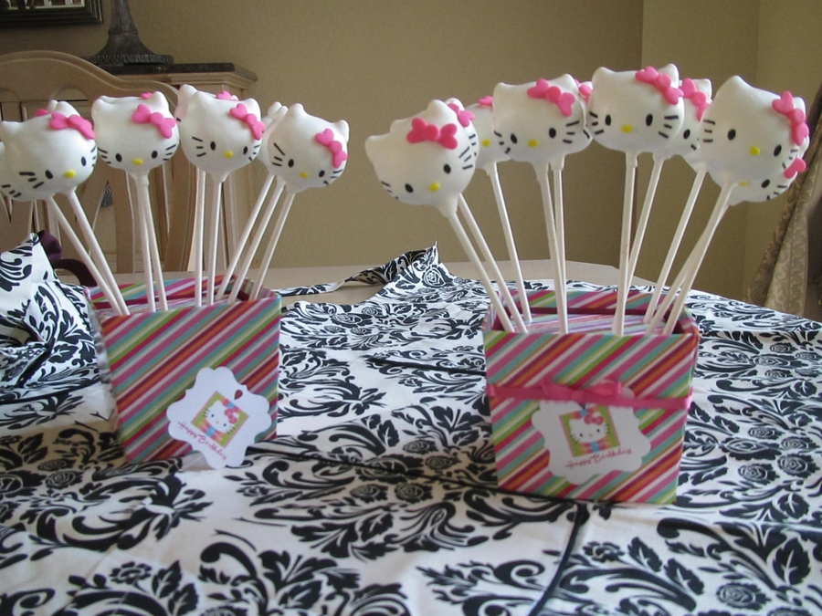 Hello Kitty Cake Pops CakeCentralcom
