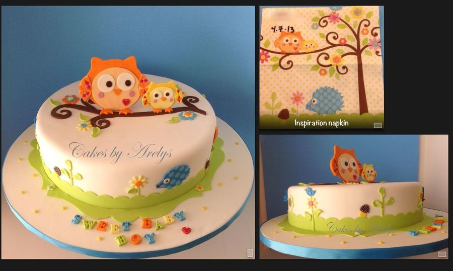 Sweet Baby Shower Owl Theme Cake Cakecentral