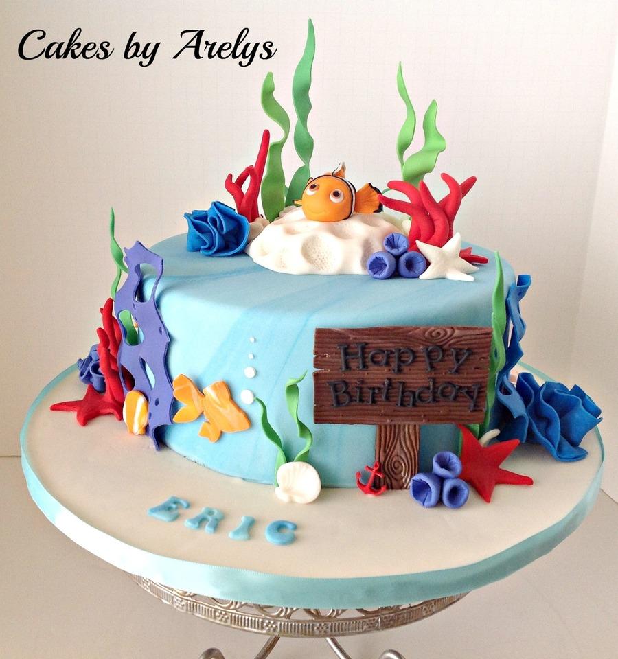 Pleasing Nemo Birthday Cake Cakecentral Com Funny Birthday Cards Online Alyptdamsfinfo