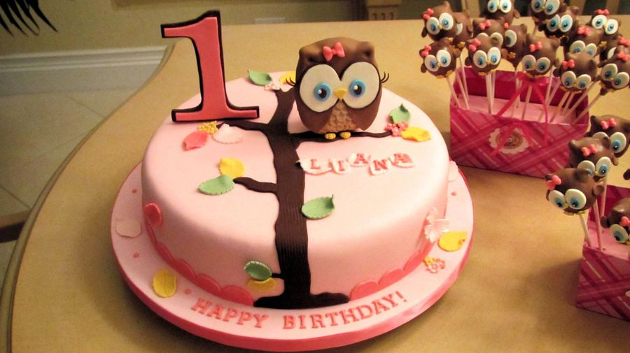 Look Whoo's 1 Theme Cake on Cake Central