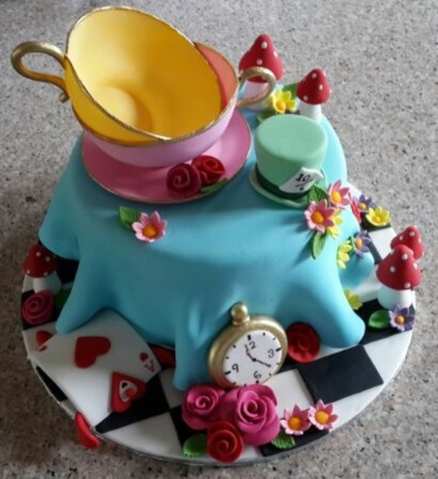 Image result for mad hatter tea party cake
