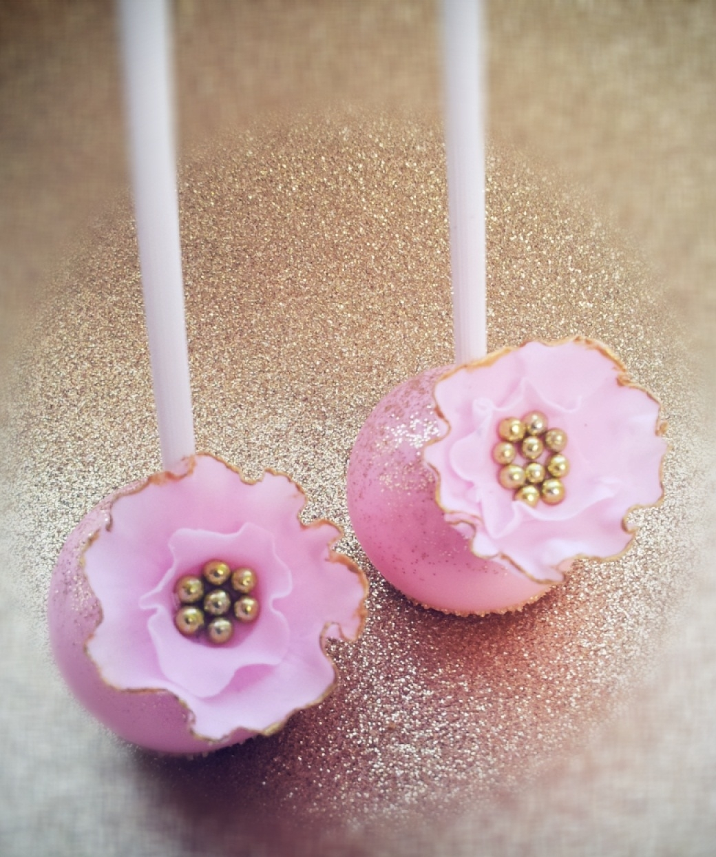 Pink And Gold Wedding Cake Pops CakeCentral