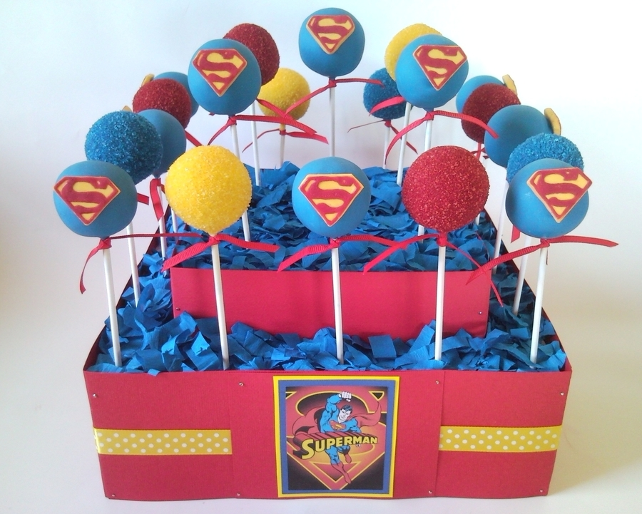 Superman Cakepops Cakecentral Com