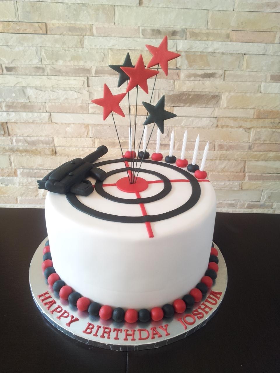 Laser Tag Themed Birthday Cake