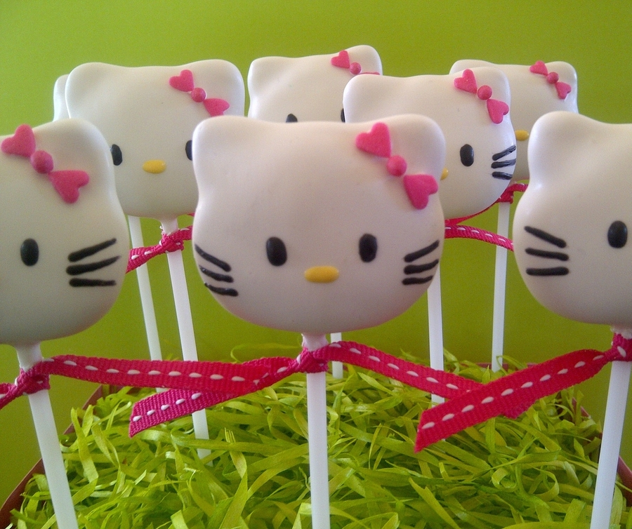 Hello Kitty Cake Pops - CakeCentral.com