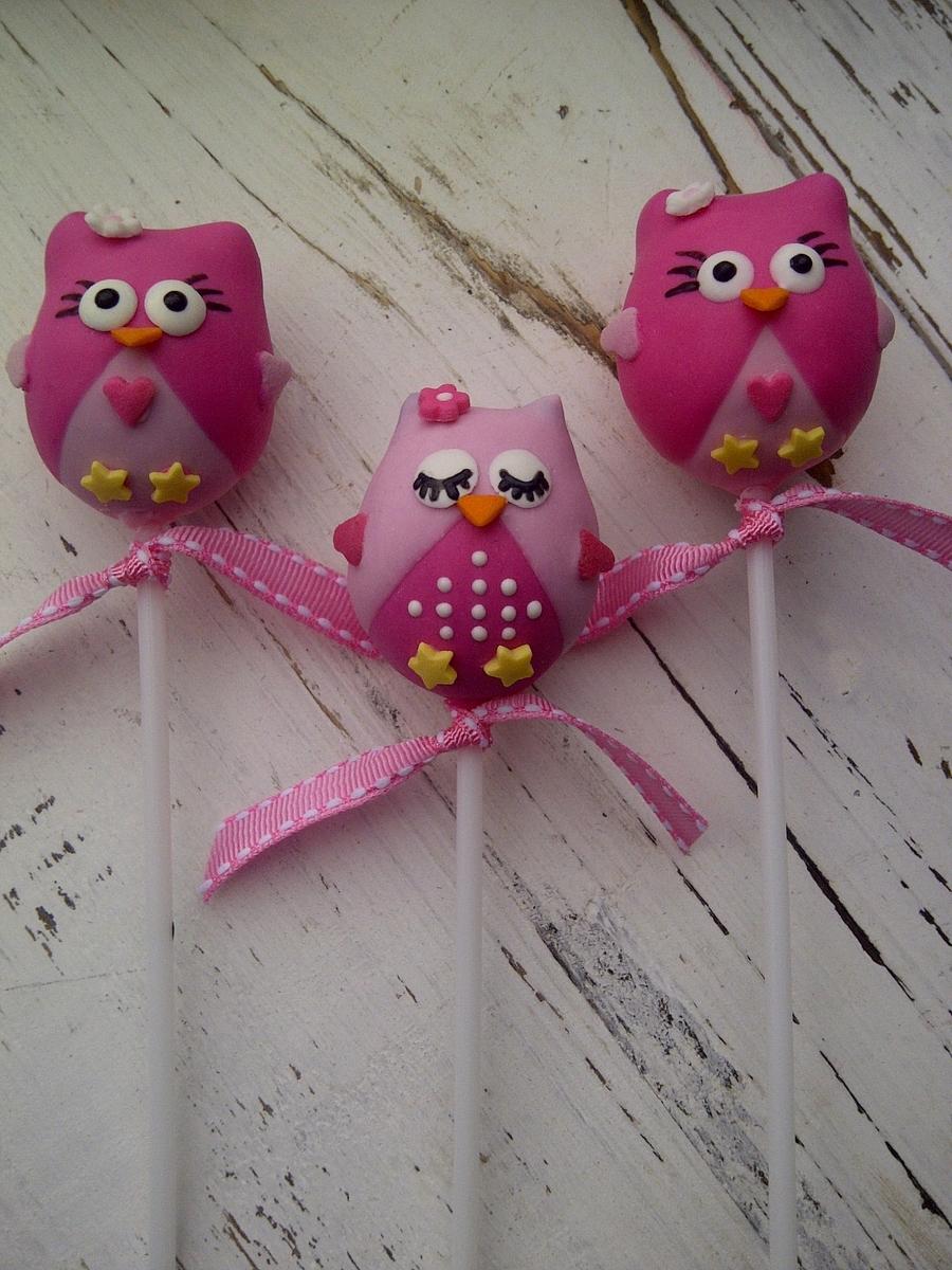 Owl Cake Pops And Cupcakes - CakeCentral.com