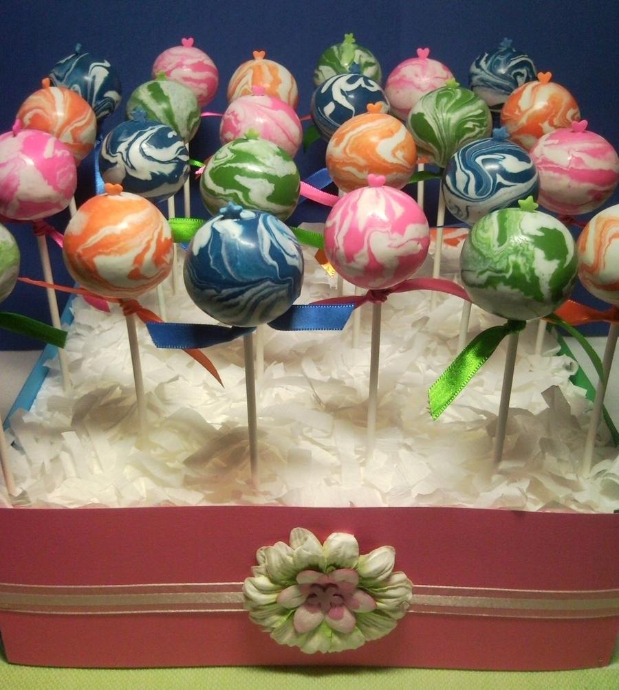 Cakecentral Com: Marbled Cakepops