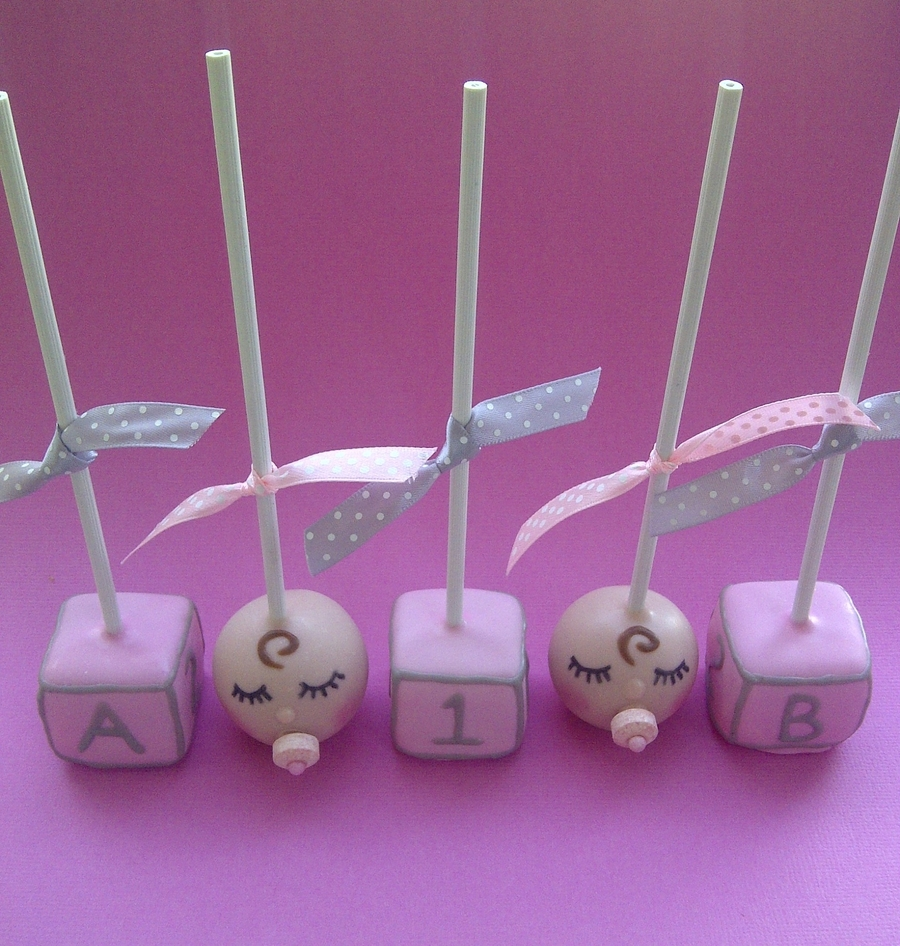 baby blocks cake pops