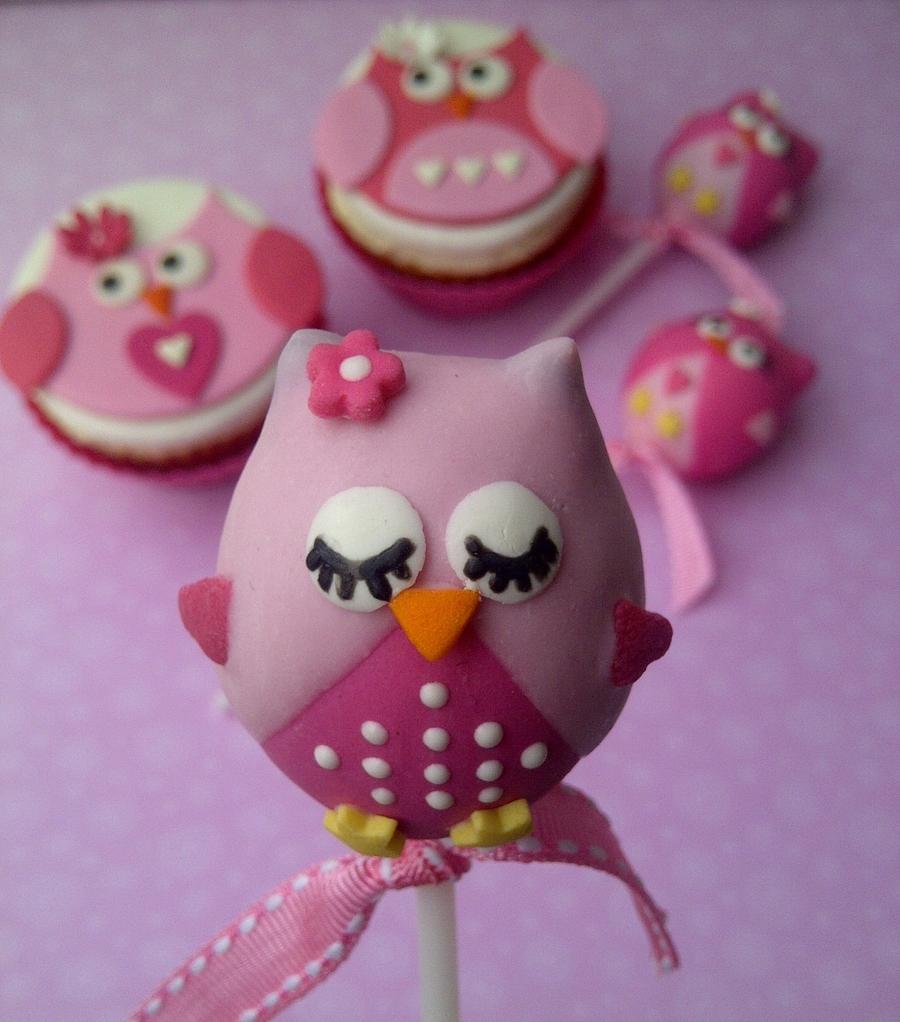Baby Shower Owl Cake Pops
