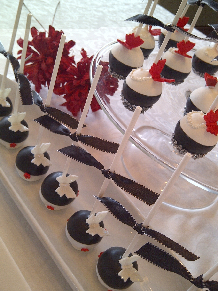 Black Red And Silver Cake Pops Cakecentral Com