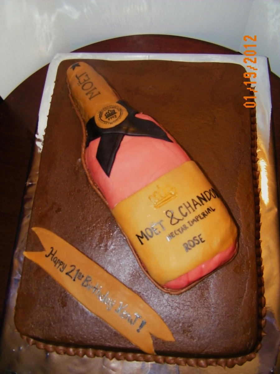 Champagne Bottle Cake  on Cake Central