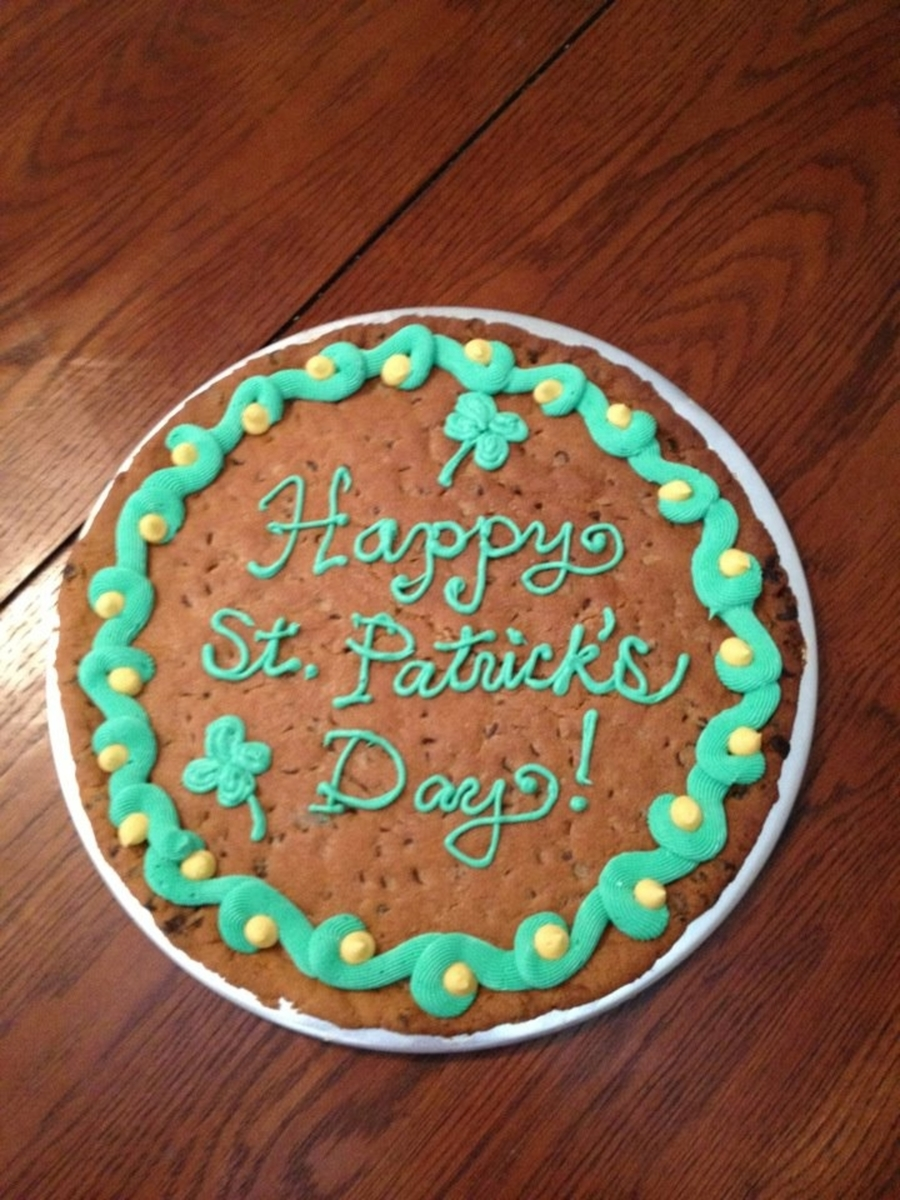 St Patrick's Day Giant Cookie on Cake Central