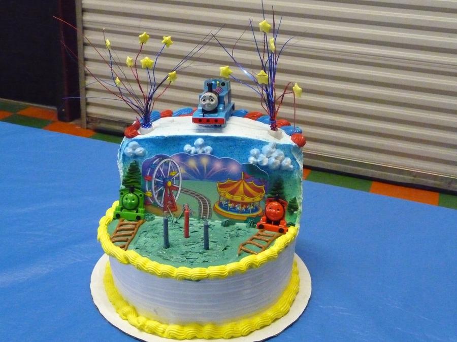 Super Thomas Train Birthday Cake Cakecentral Com Personalised Birthday Cards Paralily Jamesorg