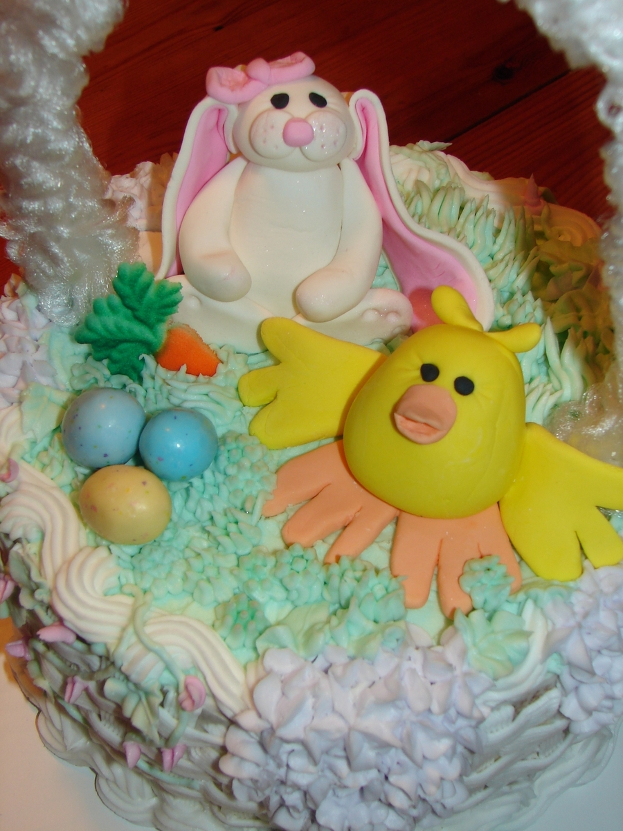 Easter Basket Cake on Cake Central