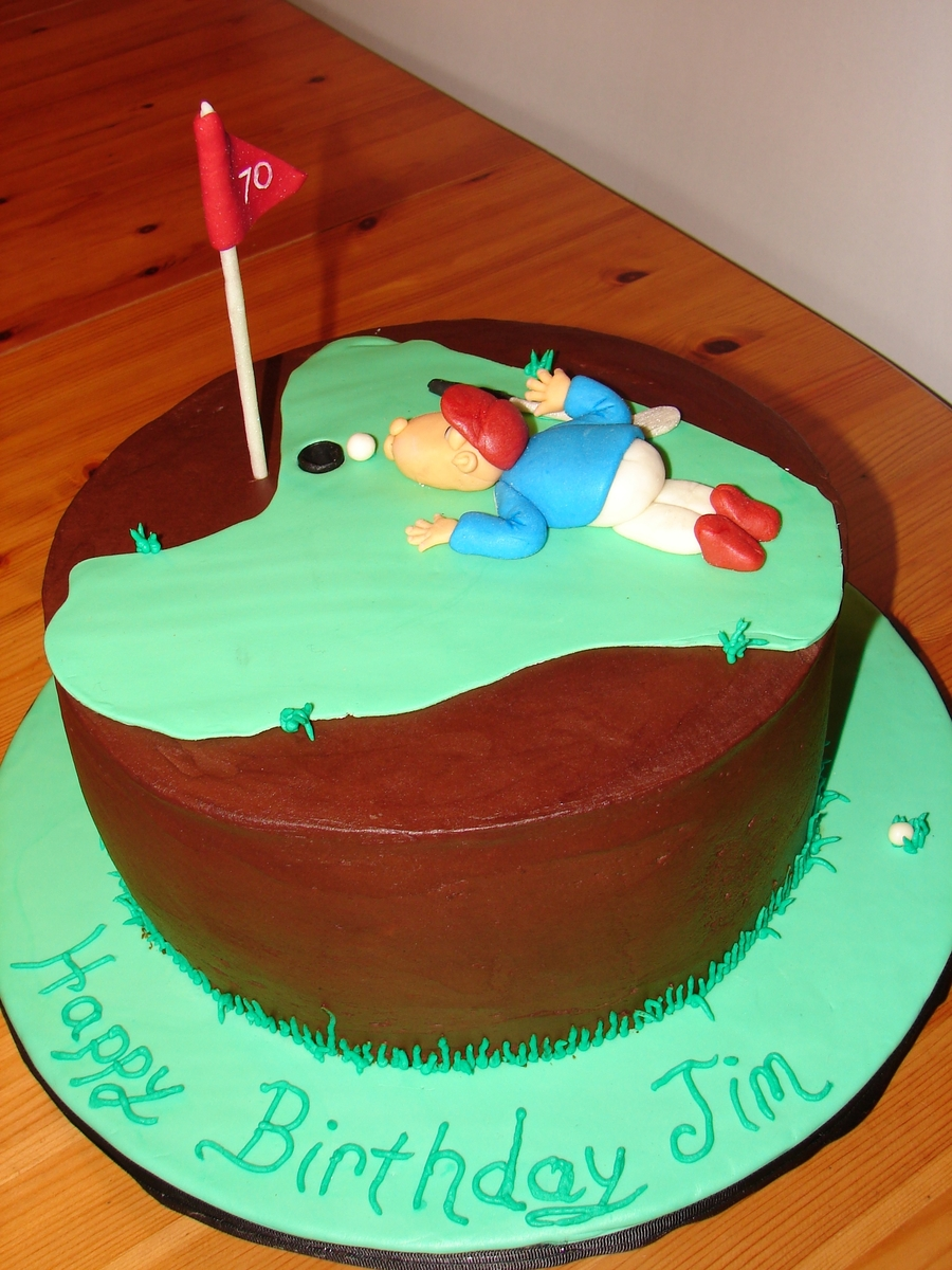 Frustrated Golfer on Cake Central