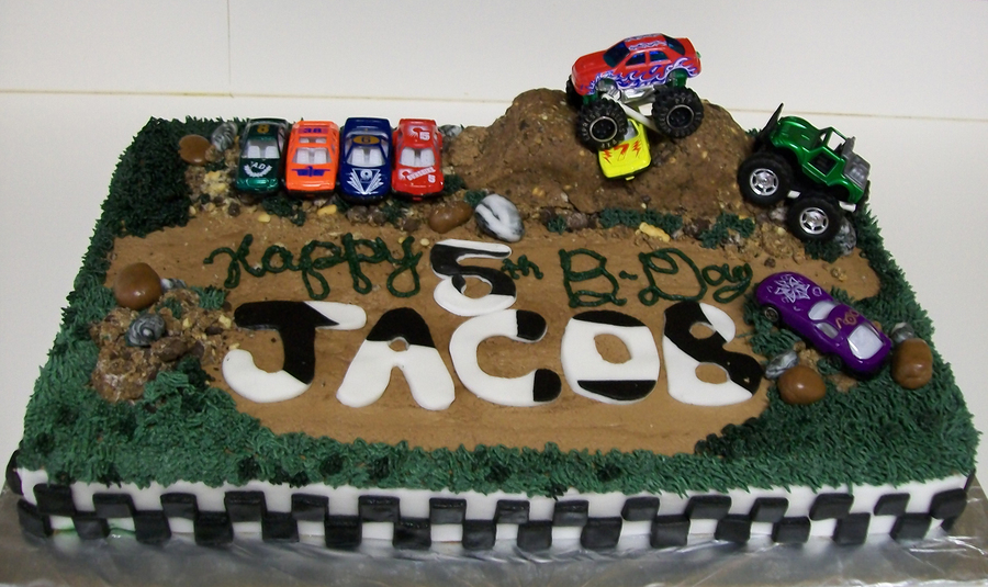 Outstanding Monster Dirt Truck Birthday Cake Cakecentral Com Funny Birthday Cards Online Elaedamsfinfo