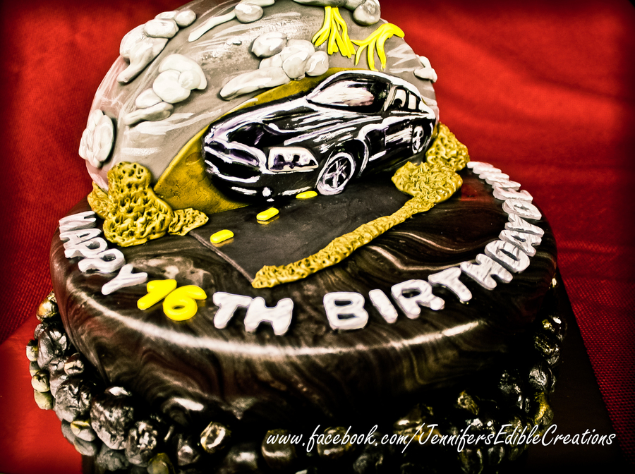 Dodge Charger Birthday Cake on Cake Central