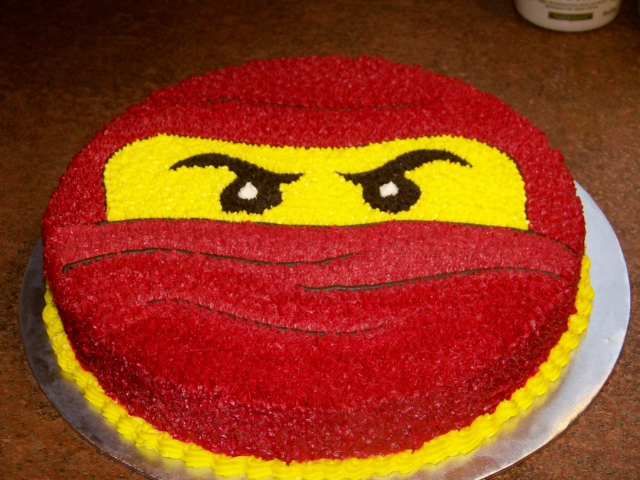 Red Ninjago on Cake Central