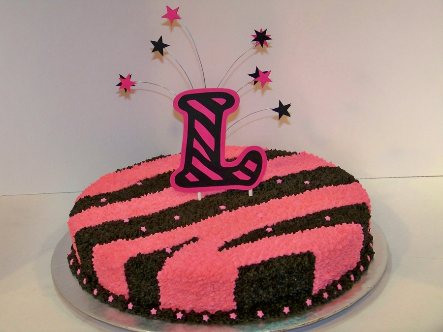 Pink Zebra For A Wild Child  on Cake Central