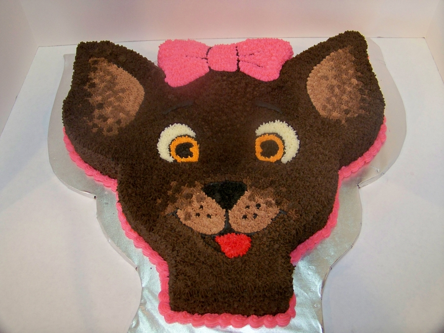 Chocolate Chihuahua  on Cake Central