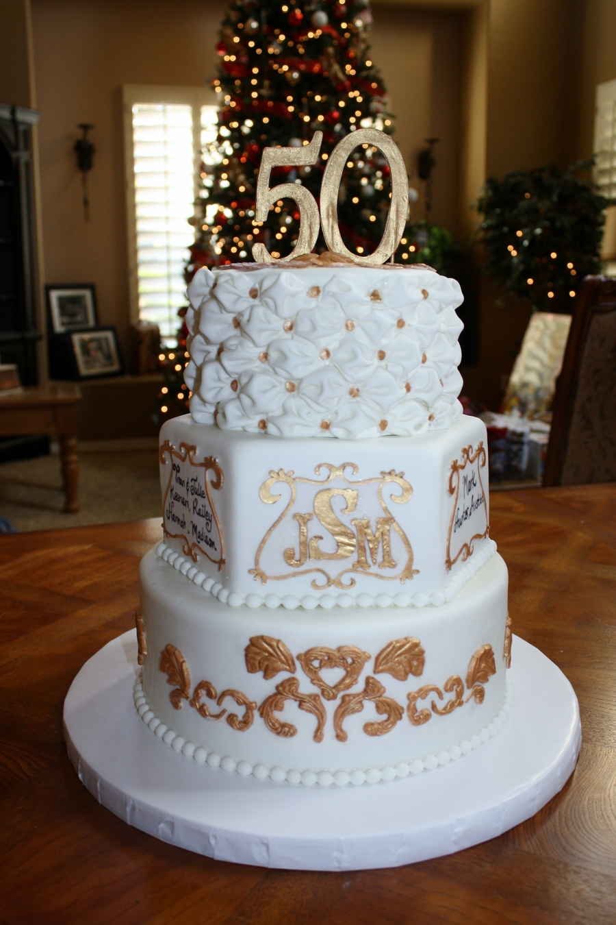 When One Gets To The 50Th Wedding Anniversary There Better Be A Big Beautiful Cake At The End Taahhh Daaahhh Lol This Cake Was Super Fun on Cake Central