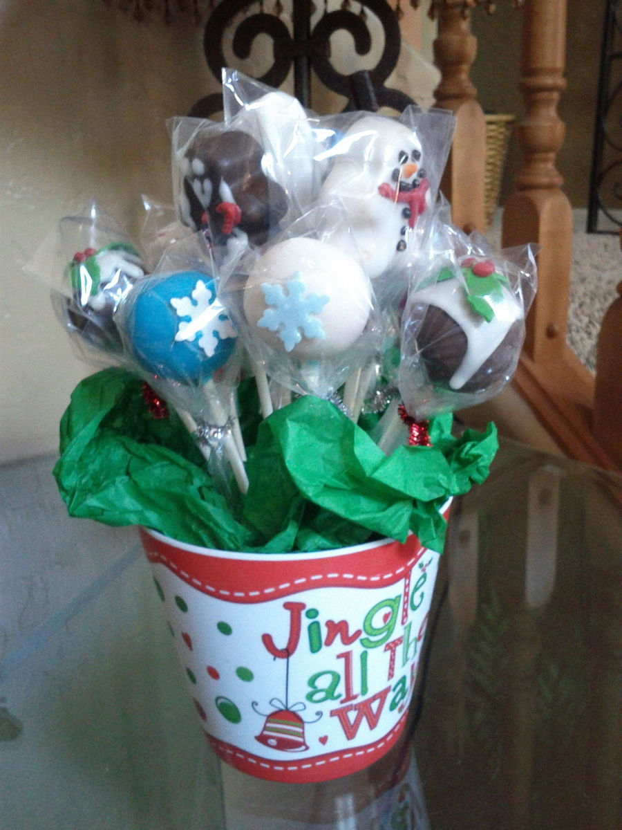 Fun Holiday Cake Pop Gift on Cake Central