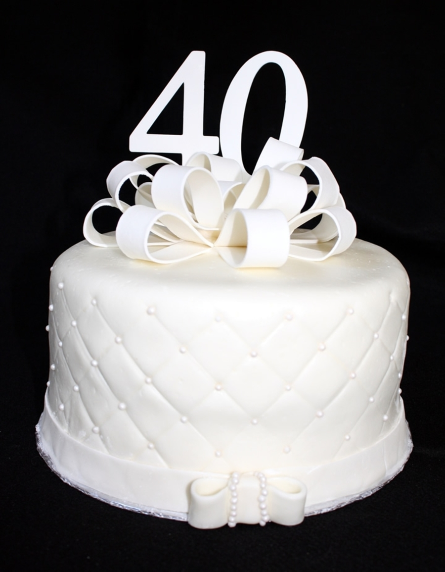 40Th Anniversary  on Cake Central