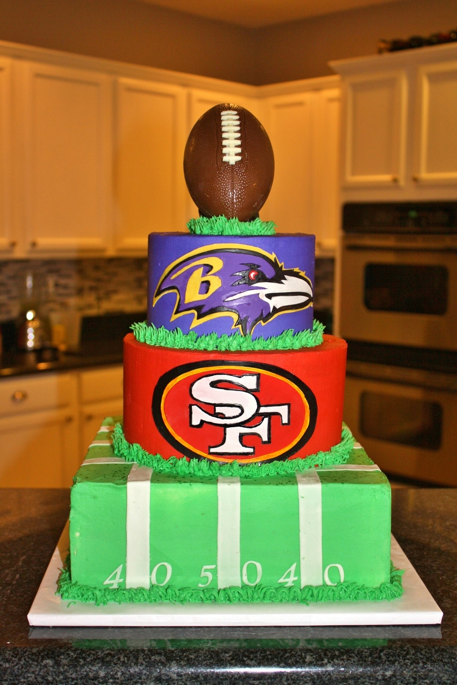 Super Bowl 2013 Ravens And 49ers Cake Cakecentral Com