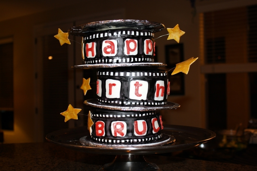 Movie Reels on Cake Central