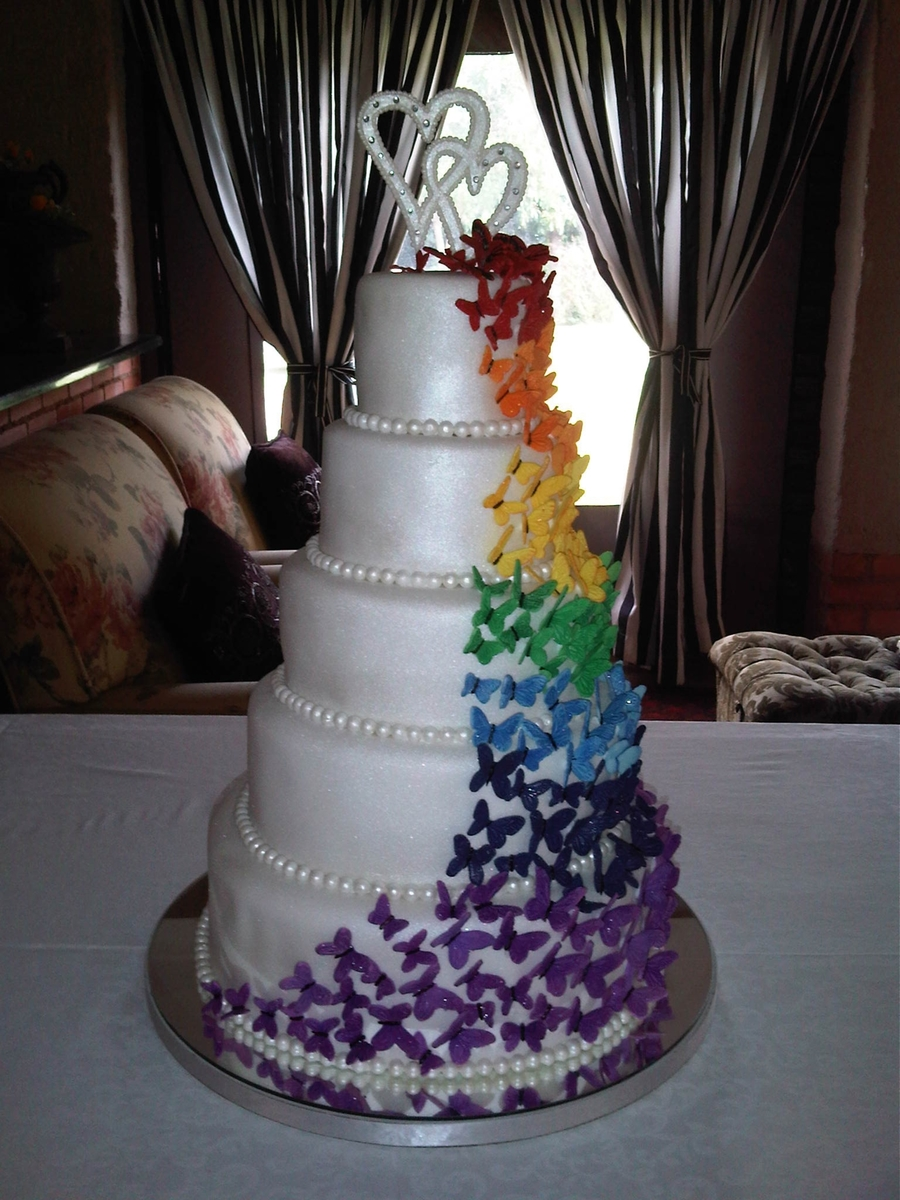 Butterfly Wedding Cake - CakeCentral.com